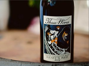 wine label three wives
